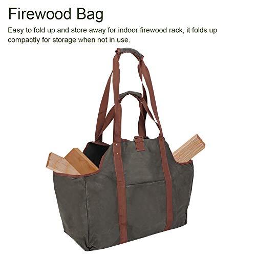 Bolsa de leña para leña, protege sus brazos y ropa de astillas de madera, bolsa de madera de lona encerada, bolsa de leña, almacenamiento de herramientas para caja de herramientas, bolsa de
