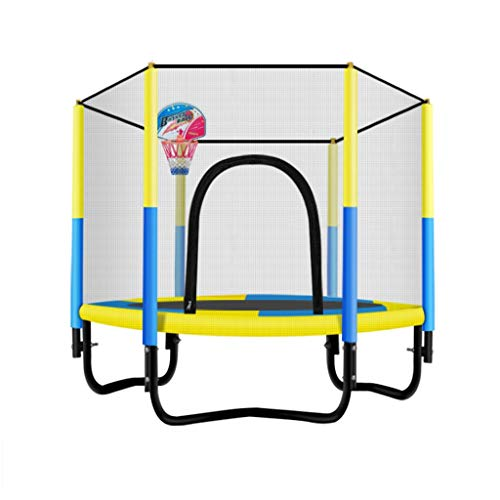 Xuping Baby Round Garden Trampoline Family Children's Indoor Safety Net Safety Cover Outdoor Pink Blue (Color : A2)