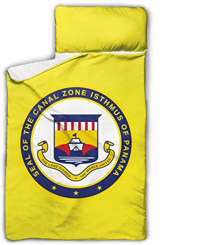 Panama Canal Zone Kids Toddler Nap Mat with Pillow - Includes Pillow & Fleece Blanket for Boys and Girls Napping at Daycare, Preschool, Or Kindergarten