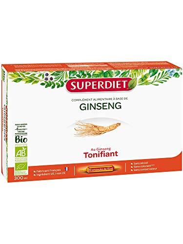 SuperDiet Ginseng Bio Super Diet 20 ampoules de 15ml soit 300ml