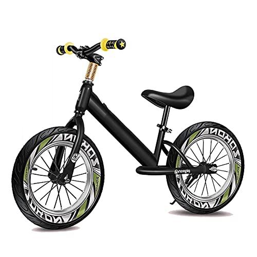 Bicicleta equilibrio Bicicleta de Equilibrio Grande para Niños, con Neumático de Aire de Goma de 14/16 Pulgadas, Bicicleta de Entrenamiento para Principiantes Grande Sin Pedal, Marco de Aluminio Liger