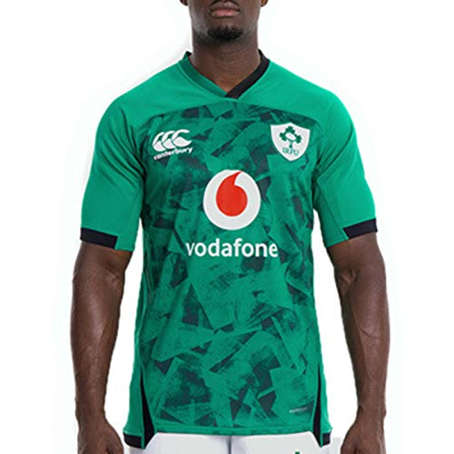 Irish-Weltmeisterschaft Rugby Jersey, 2021 Green Ireland Home Away Jersey, Männer Schnell Trocknend Training Short Sleeve T-Shirt Sport-beiläufiges Polo Top Home-XXL