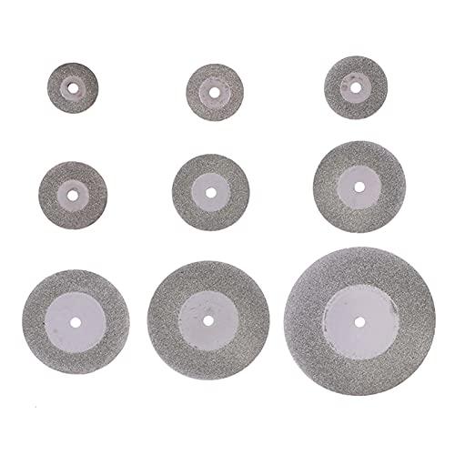 SYHML-SHOP 6 unids/Set 16-50 mm Discos de Corte de Diamante Mini Rueda de Sierra Circular Hoja de Diamante Herramienta de Muelle de muela Mini Disco de Corte para Accesorios rotoriales (Color : B)