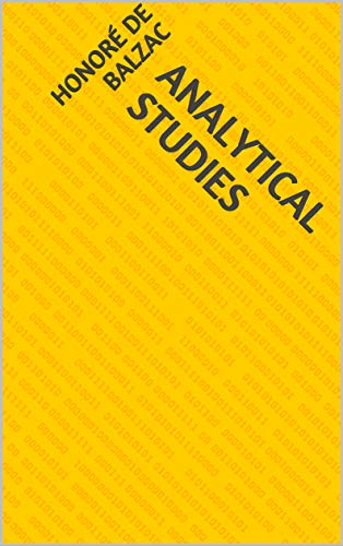 Analytical Studies (English Edition)