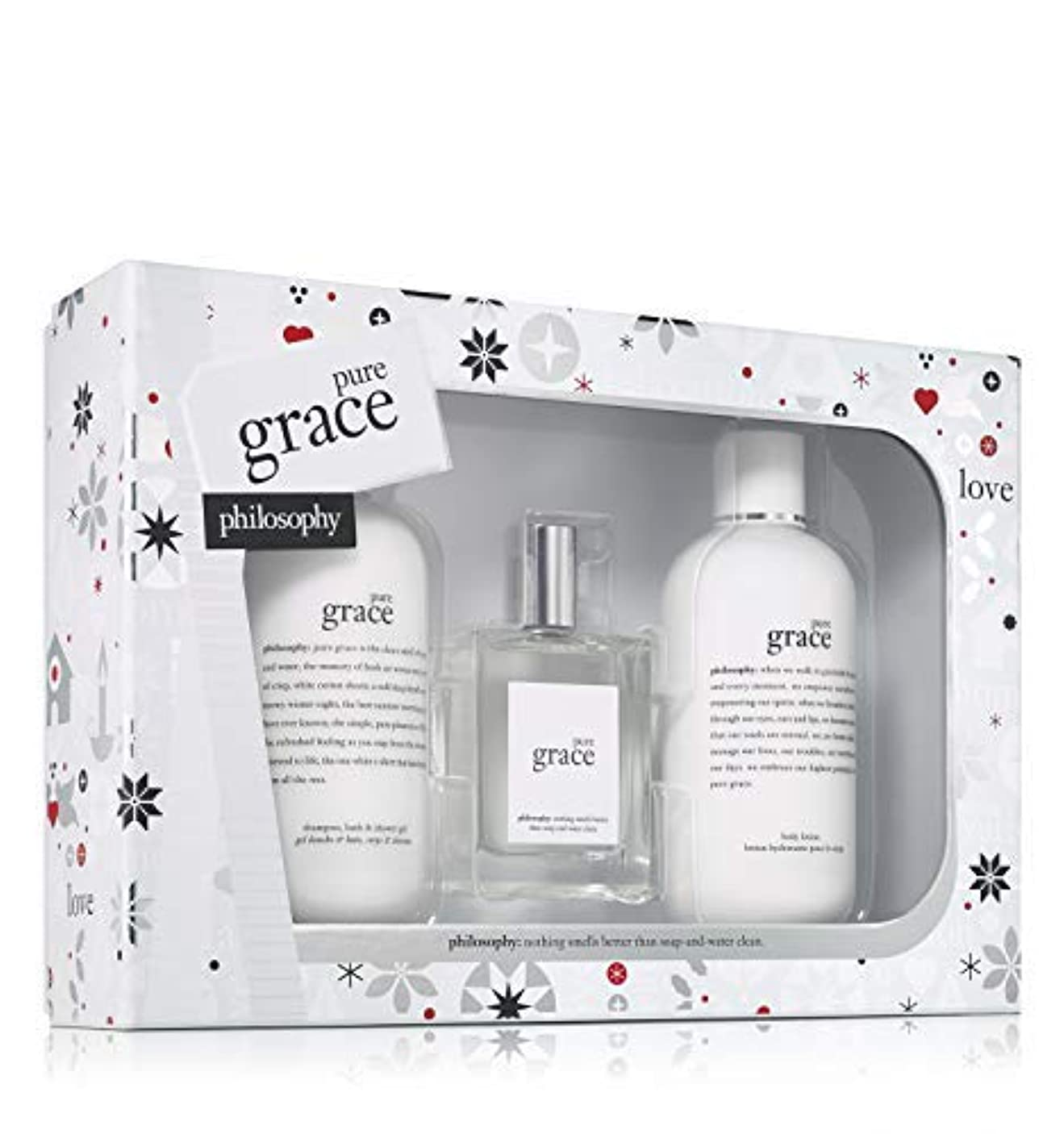 法令頭蓋骨式Philosophy - Pure Grace 3-Piece Gift Set Holiday 2017