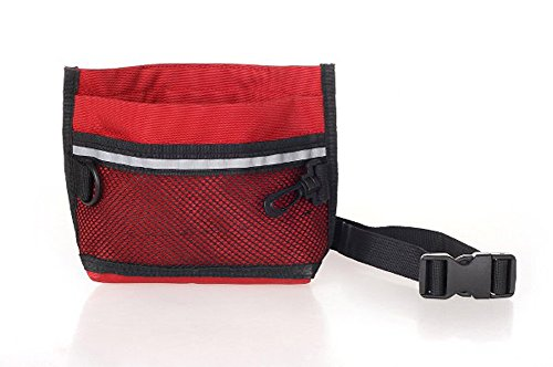 Lowest Price! Dollshow Hands Free Dog Training Pouch Portable Pet Snacks Treat Waist Fanny Pack Reward Bum Bags (Red)