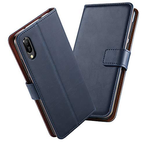 GeeRic Kompatibel Für Huawei Y6 2019 Hülle, [Standfunktion] [Kartenfach] [Magnet] [Anti-Rutsch] PU-Leder Schutzhülle Brieftasche Handyhülle Kompatibel Mit Huawei Y6 2019 Blau - 2