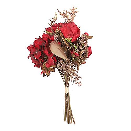 TIAVNTD Ramos de peonía de seda artificial, flores de seda vintage, ramo de novia, peonías de imitación, flores para boda, centro de mesa, oficina, fiesta, decoración del hogar