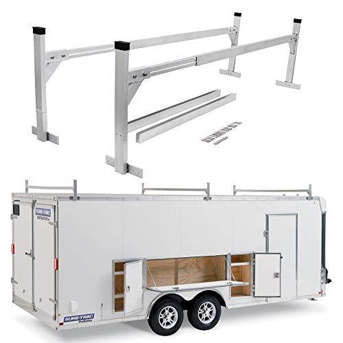 StarONE Adjustable Aluminum Trailer Ladder Rack Fit for Open and Enclosed Trailers