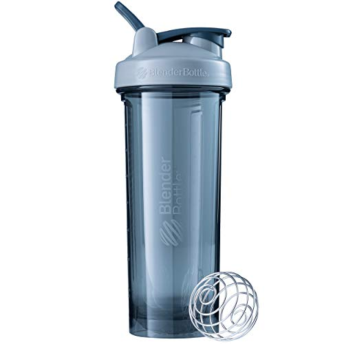 BlenderBottle Shaker Bottle Pro Series Perfect for Protein Shakes and Pre Workout, 32-Ounce, Pebble Grey