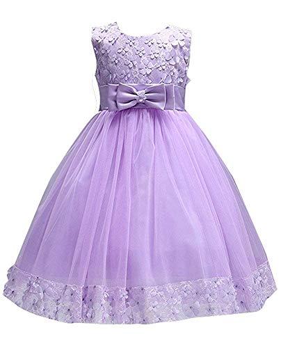 Ball Gowns for Girl Size 7-16 Princess Elegant 3-4 Years Old Lavender Flower Girl Dresses for Girls Lavender Size 4 6 Beauty Cute Sleeveless Little Kids Children Toddler Girl Dress (Purple 100)