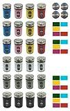 Gewürzstreuer farbig Vorratsgläser mit Sichtfenster Edelstahl Streuregulierung 80 ml 24 Stück mit Etiketten