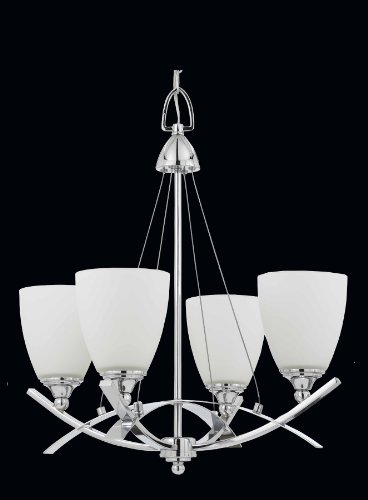 Triarch 40108 4 Light Neptune Chandelier, Chrome