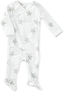aden + anais Baby Girls Long Sleeve Kimono One-Piece, Sketch Hearts