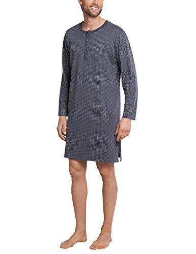 Schiesser Herren Nachthemd lang Einteiliger Schlafanzug, Grau (Anthrazit 203), Large