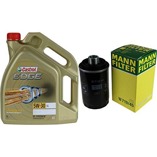 Castrol EDGE Titanium FST 5W-30 LL MANN-FILTER - Juego de filtros (5 L)