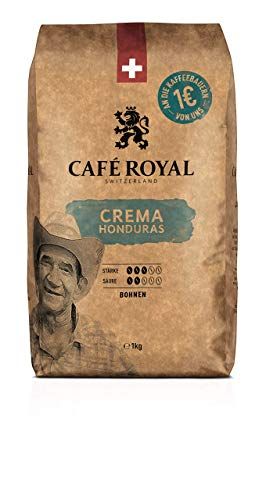 Café Royal Honduras Crema Bohnenkaffee, Intensität 3/5, 1er Pack (1 x 1 kg)