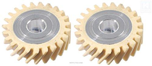 2 engranajes de transmisión helicoidales de nailon de repuesto para batidoras artesanales KitchenAid W10112253