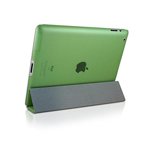 KHOMO Dual CASE Green Cover Front + Green Crystal Back Protector for Apple iPad 2, iPad 3 & iPad 4 (The New iPad HD) Photo #2