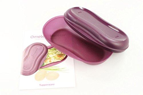TUPPERWARE Omelett-Meister Omlettwunder Eier + Rezept Mikrowelle lila 10117