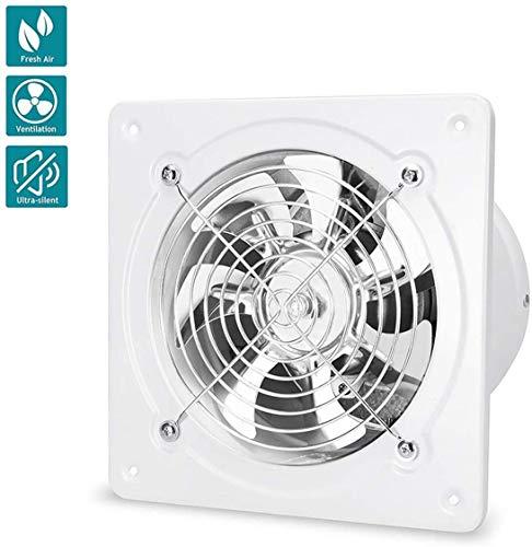 Lcxligang 40W montado en la pared Extintor 150mm conducto de ventilación del ventilador de pared o al techo de ventilación eficiente cojinete 800 m³ / h con bola no retorno de la aleta de protección c