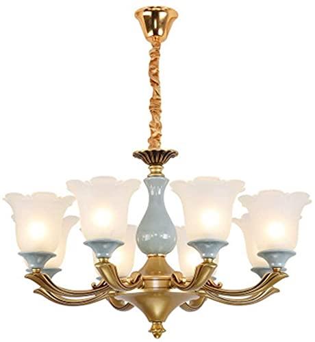 TAIDENG Luces de Techo LED Modernas, Chandeliers de Estilo Europeo Sala de Estar Sala de Comedor Luces de Dormitorio Lámparas de aleación de Zinc (Size : 8lights(78 * 42cm))