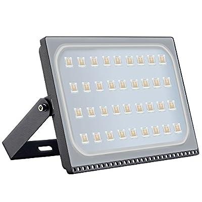 Viugreum 200W LED Flood Light, New Slim Design, IP67 Waterproof Outdoor Floodlights, 16000LM Warm White (2800-3200K), Super Bright Security Wall Light for Garage, Garden, Yard, Square, Warehouse