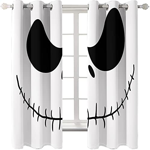 MMHJS Black And White Creative Personality Curtains, Thick Waterproof Partition Curtains, Easy Installation Of Perforated Curtains