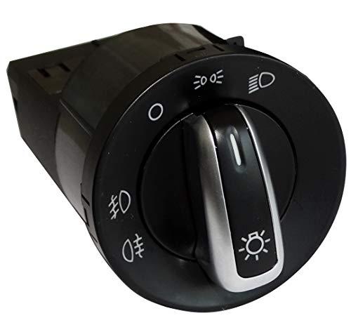 AERZETIX: Interruptor botón de función faros control de luz antiniebla compatible con 3BD941531A C16174