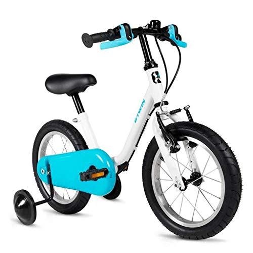 LIPENLI Bicicletas Bicicletas Infantiles de Moda Infantil al Aire Libre Azul excursión de niños Bicicletas niños y niñas al Aire Libre Bicicletas Bicicletas de 2-10 años Niños (Color: 14 Pulgadas)