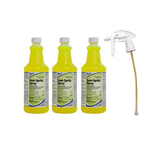 Sani Spritz Spray - One Step Disinfectant - 3 Bottles and One Sprayer