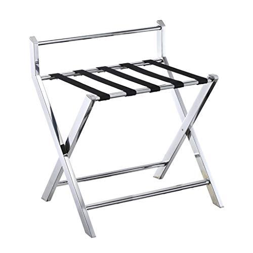 Save %51 Now! HOMRanger Hotel Luggage Rack Stainless Steel Luggage Rack, Hotel Bedroom Foldable Lu...