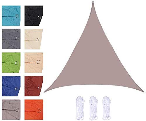 Toldo vela rectangular Triangle Sun Sail Shade, Shade impermeable de Vela, a prueba de agua 98% anti-UV protector solar Toldo Toldo, varios tamaños, for jardines, patios, piscinas, zonas de barbacoa (