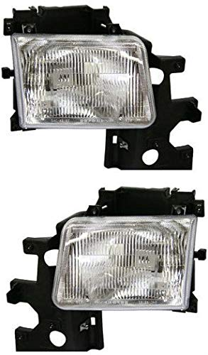 Headlight Assembly Compatible with 1994 Dodge B150 B250 B350/1995-1997 B1500 B2500 B3500 Halogen Passenger and Driver Side