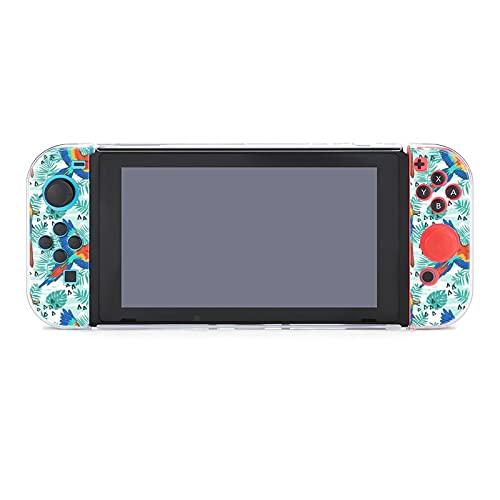 Funda para Nintendo Switch Ara Parrot Tropical Fabric Design 5 Piezas Funda Protectora Compatible con Nintendo Switch Game Console