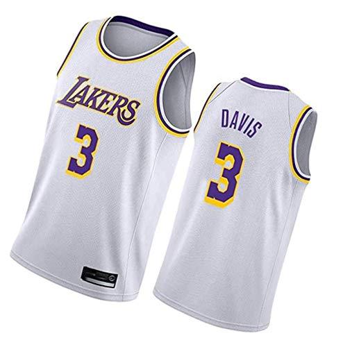 Camiseta De Baloncesto Cool Transpirable Davis Tela Swingman Sin Mangas Chaleco Top #3 Ropa Blanca