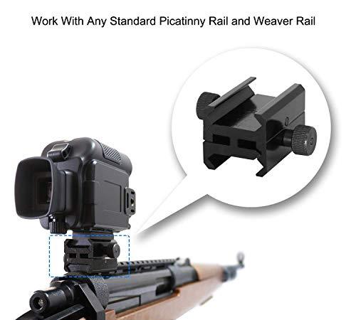 bestguarder Picatinny to Picatinny Rail Mount Clamp Adapter SYA-101, Low Profile Dual Picatinny Rails Gas Block Mount