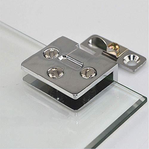 (2 piezas) de acero inoxidable gabinete de cristal bisagra de puerta de vino gabinete bisagra de puerta gabinete de vidrio abrazadera de vidrio sin perforación