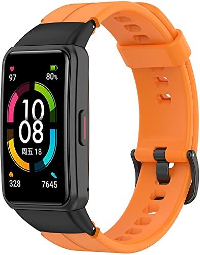 Gransho Correa de Reloj Recambios Correa Relojes Caucho Compatible con Huawei Band 6 / Honor Band 6 - Silicona Correa Reloj con Hebilla (Pattern 4)