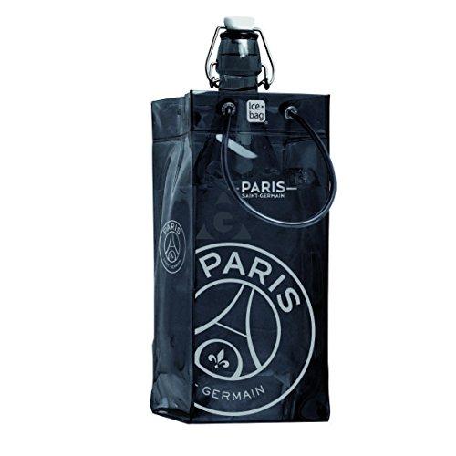 Ice Bag 17309 Rafraîchisseur à Bouteilles Collection PSG PVC Noir/Argenté 11 x 11 x 25.5 cm