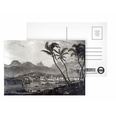 art247 Postkarte Port Louis von 'Views in The Mauritius' von Postkarten, 15,2 x 10,2 cm, 8 Stück