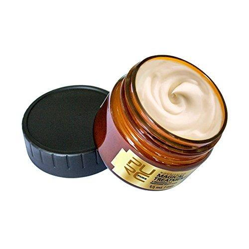 Zebroau Haarmaske, Dampffreie, ernährungsphysiologische Schnellreparatur, Wiederherstellung von weichem Haar, Tiefenkonditionierung für trockenes und strapaziertes Haar - 60 ml
