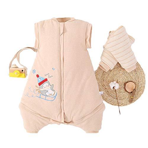 Shinelly Niedlicher Tier Schlafsack,100% Baumwolle Super Soft Baumwoll KäNguru Wearable Decke Für Baby(Snowman/KäNguru) Snowman L