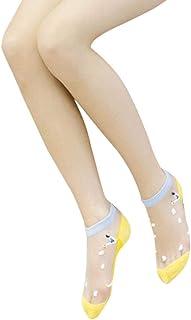 Calcetines De Verano De Calcetines Para Transparentes Damas Algodón De Estilo Simple Cristal Calcetines Oceánicos Delgados Calcetines Cortos Modernos De Moda Moda Básica