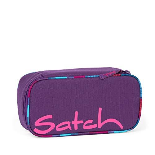 satch Schlamperbox - Mäppchen mit extra viel Platz, Trennfach, Geodreieck, Mehrfarbig - Sunny Beats - Lila