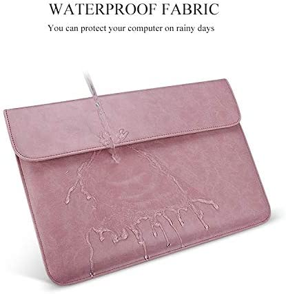Leather Horizontal Invisible Magnetic Buckle Laptop Inner Bag for 13.3 inch laptops Color : Pink Laptop Bag Pink with Small Bag PU01S PU