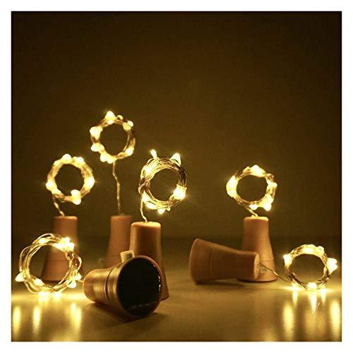VGY 1/6/10pcs CHEPER COOBLE LED Guirnalda de Guirnalda con energía Solar Botella de Vino Luces de la Botella de la Cadena LED de la Navidad Lámpara de decoración de la Boda de la Boda