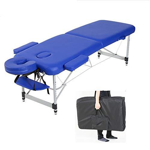 Thole Plegable Mesa de Masaje Camilla de Belleza y Altura Ajustable con Patas de Aluminio Cuero de PU Pesa 16 kg Carga hasta 150kg,White