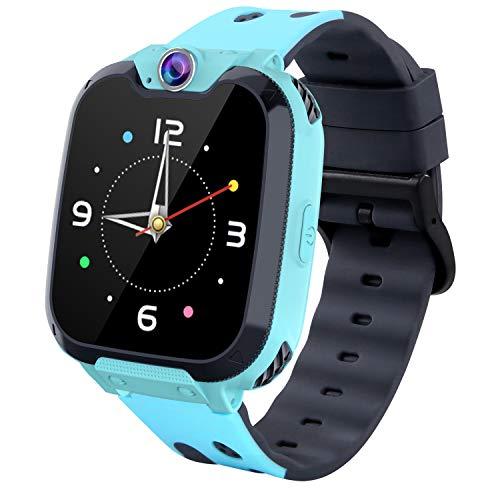 Smartwatches für Kinder, HD-Touchscreen-Sport-Smartwatch-Telefon mit Call Camera Games Recorder Alarm Music Player für Kinder Teen Studenten (Blau)