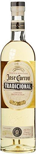 Jose Cuervo Tradicional Reposado Tequila Mexiko (1 x 0,7 l) – traditionell mexikanischer Tequila mit 38 % Vol. aus blauer Weber Agave